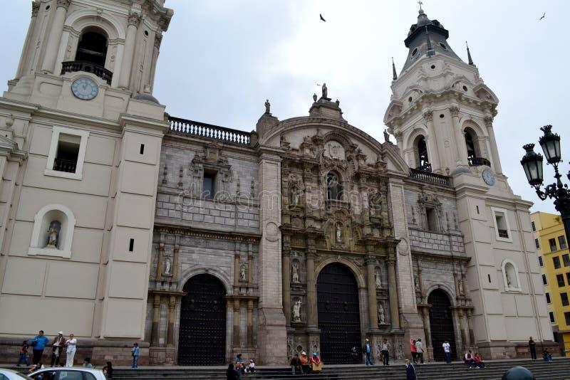 Catedral de Lima - catedral de Lima imagens de stock royalty free