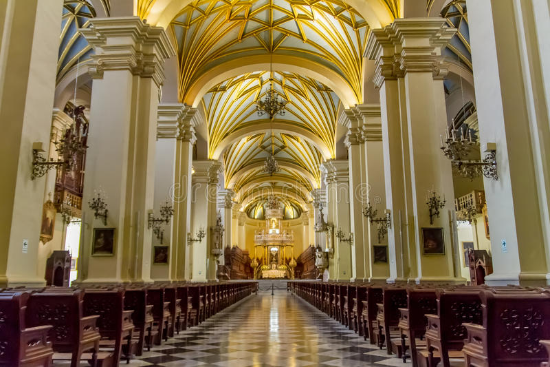 Catedral de Lima em Peru fotografia de stock royalty free