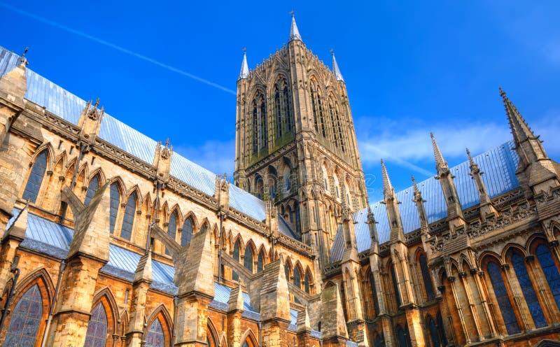 Catedral de Lincoln, Inglaterra fotos de stock royalty free