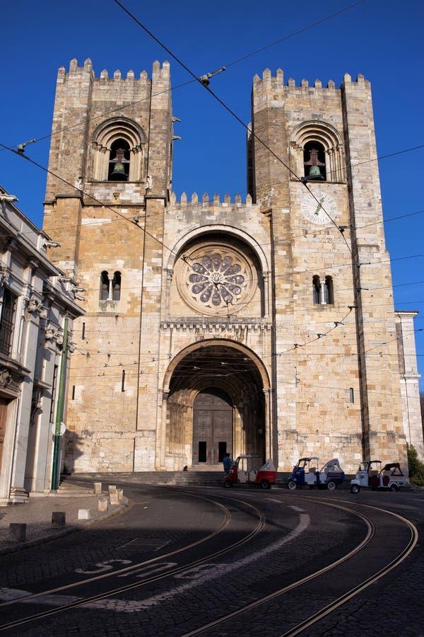 Catedral de Lisboa em Portugal imagens de stock royalty free