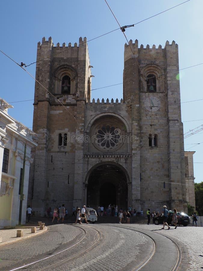 Catedral de Lisboa - Vista de la calle Santa Maria Maior de Lisboa - 1 imágenes de archivo libres de regalías