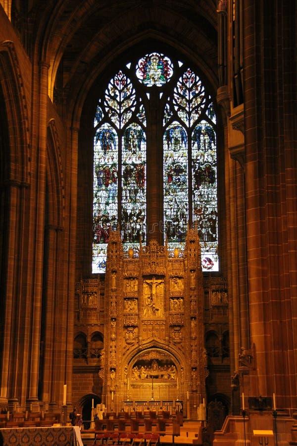 Catedral de Liverpool fotos de stock