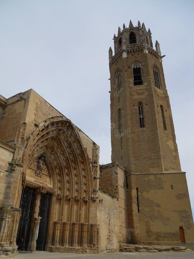 Catedral de Lleida - España fotografía de archivo libre de regalías