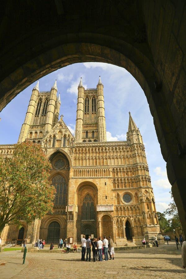 Catedral de Llincoln, Lincoln, Lincolshire, Reino Unido foto de stock