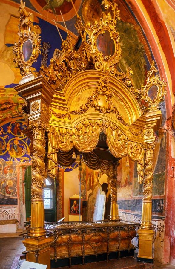 Catedral de los 1222) interiores de la natividad (, Suzdal fotos de archivo libres de regalías