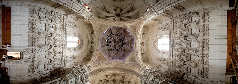 Catedral de Los Reyes. Panoramic view. Toledo. Spain. stock images