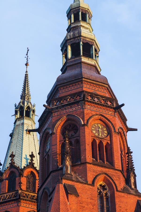 Catedral de los santos Peter y Paul en Legnica imágenes de archivo libres de regalías
