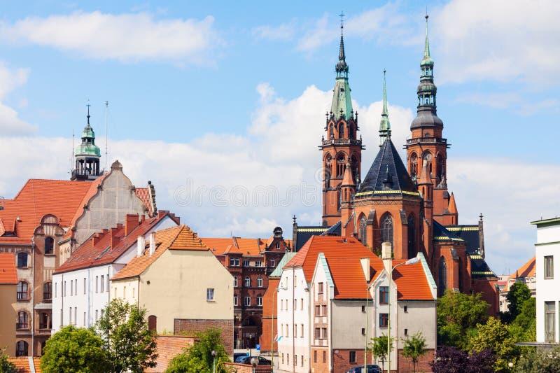 Catedral de los santos Peter y Paul en Legnica fotografía de archivo libre de regalías