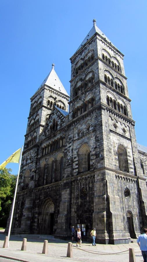 Catedral de Lund em Lund Sweden foto de stock