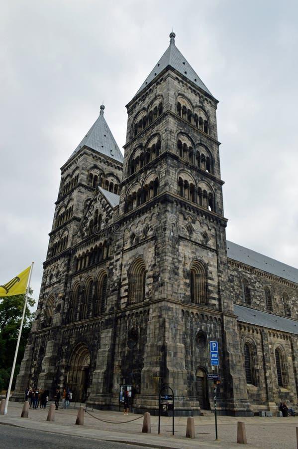 Catedral de Lund, Sweden fotos de stock
