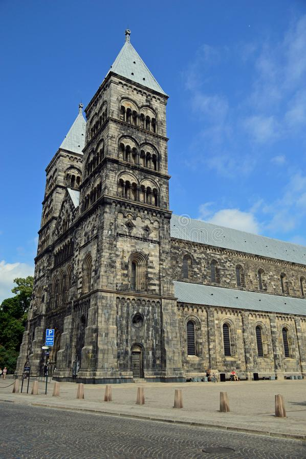 Catedral de Lund, Sweden imagens de stock royalty free