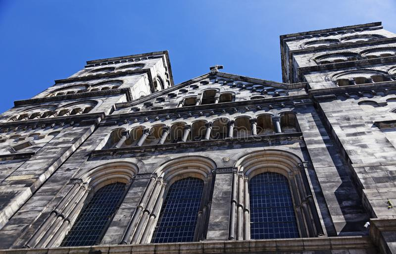 A catedral de Lund vista de baixo de fotos de stock royalty free