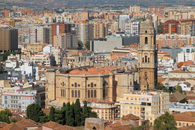 Catedral de Málaga, España foto de archivo libre de regalías