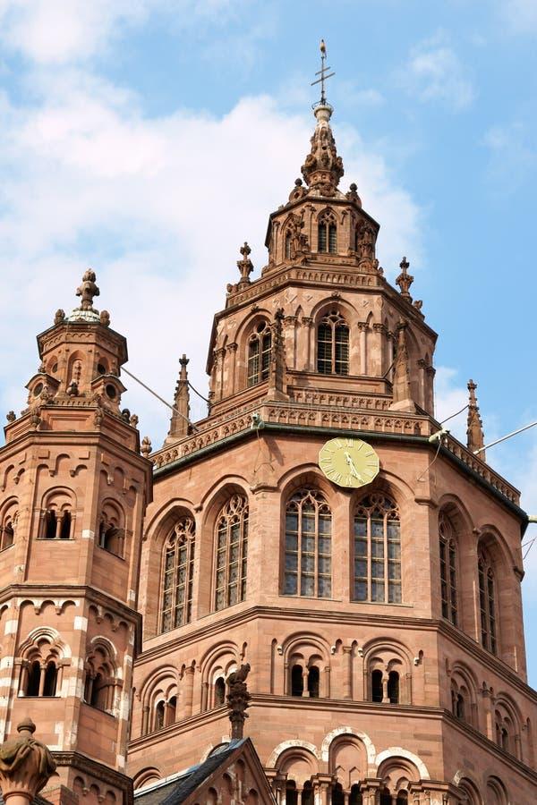 Catedral de Maguncia - Dom de Mainzer imagen de archivo