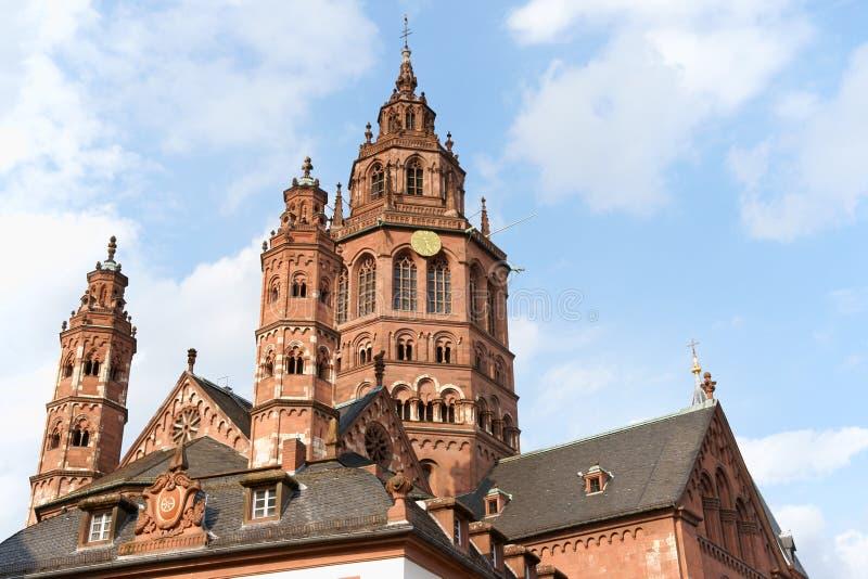 Catedral de Maguncia en Alemania foto de archivo