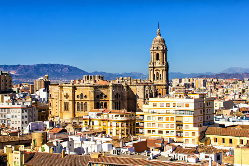 Catedral de Malaga fotos de stock royalty free