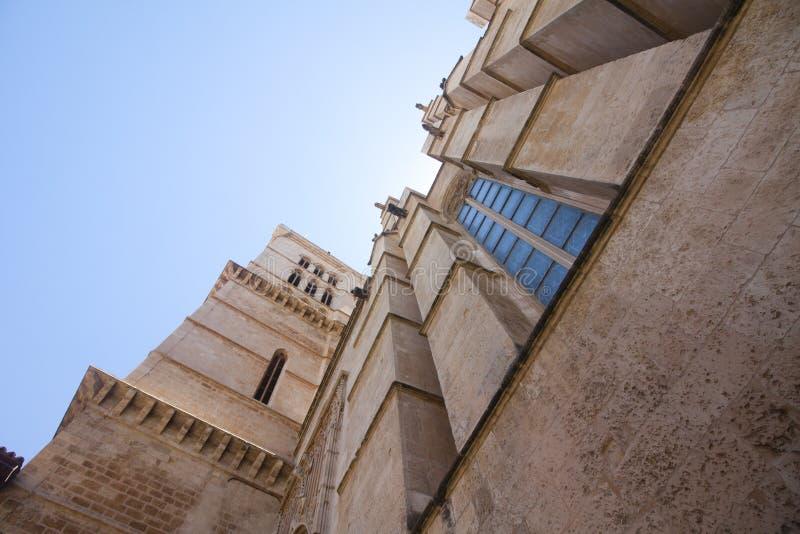 Catedral de Mallorca na nieba tle, Palma de Mallorca, Hiszpania 30 06 2017 zdjęcia royalty free