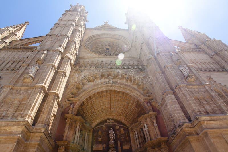 Catedral de Mallorca na nieba tle, Palma de Mallorca, Hiszpania 30 06 2017 fotografia royalty free