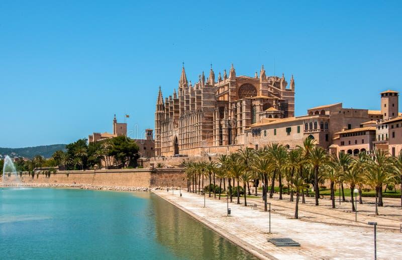 Catedral de Mallorca, Palma de Mallorca, Hiszpania obrazy royalty free