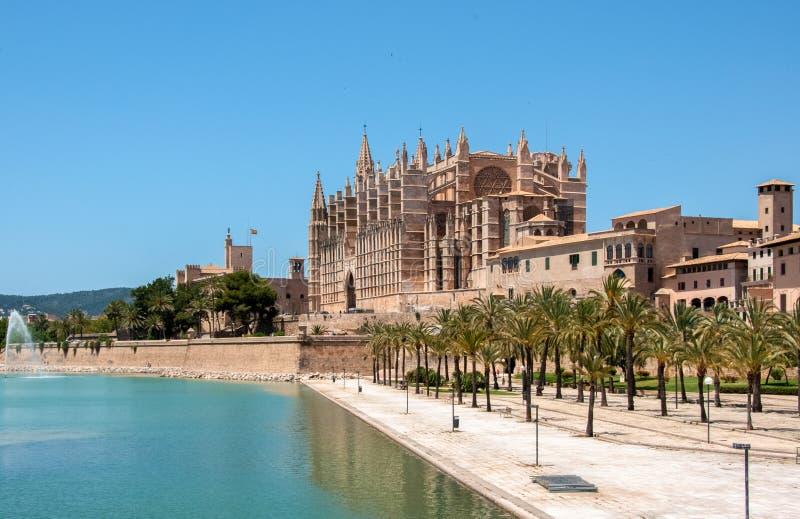Catedral De Mallorca, Palma de Mallorca, Spanien stockfotografie