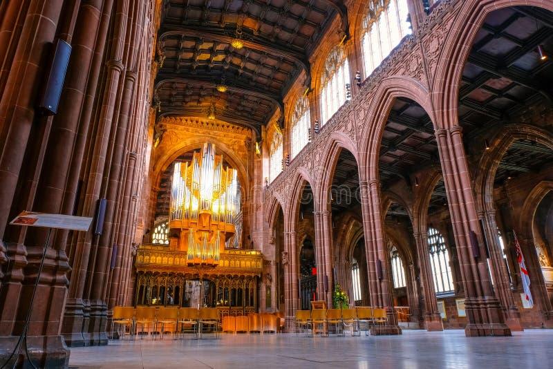 Catedral de Manchester en Manchester, Reino Unido foto de archivo libre de regalías
