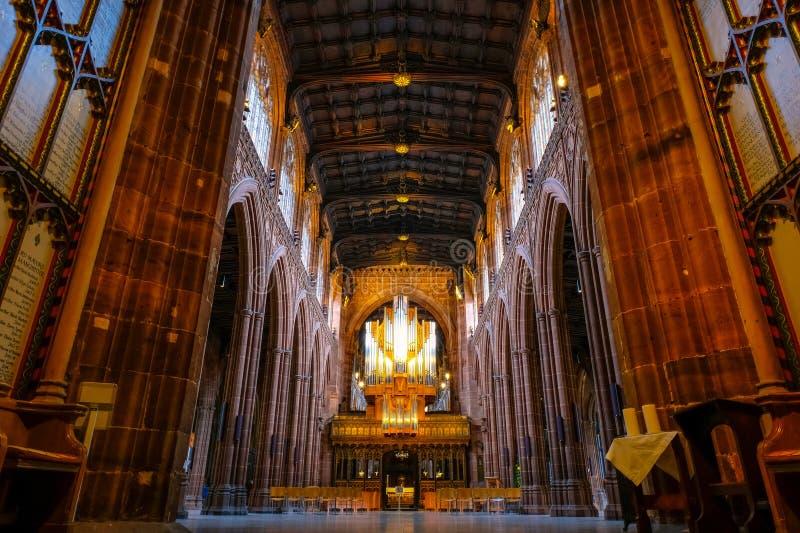Catedral de Manchester en Manchester, Reino Unido fotografía de archivo