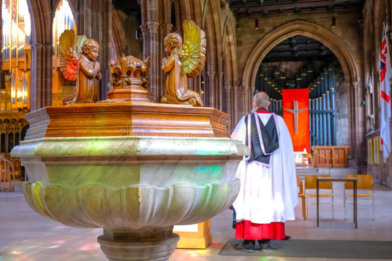 Catedral de Manchester en Manchester, Reino Unido imagen de archivo libre de regalías