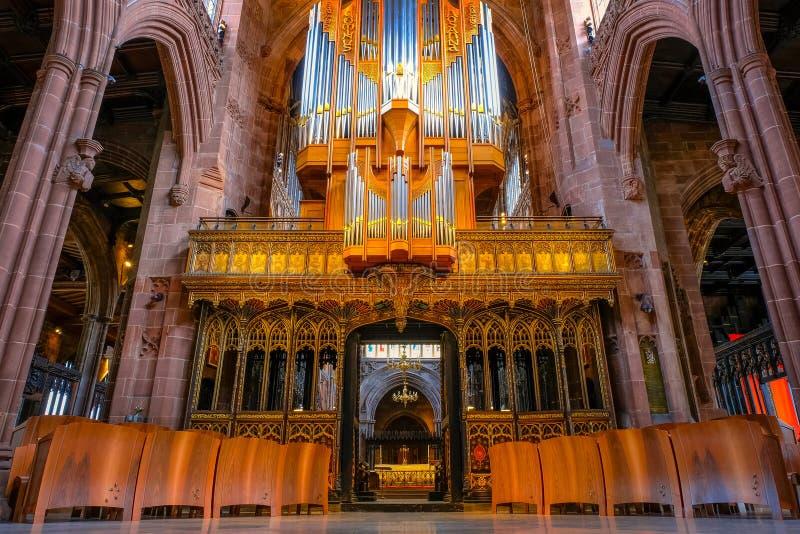 Catedral de Manchester en Manchester, Reino Unido foto de archivo