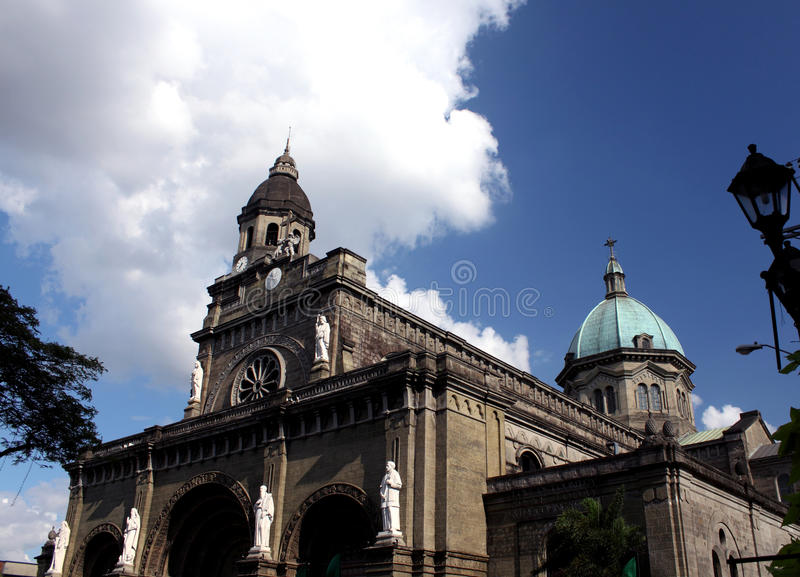 Catedral de Manila fotos de stock royalty free