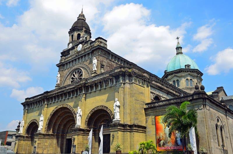 Catedral de Manila imagem de stock