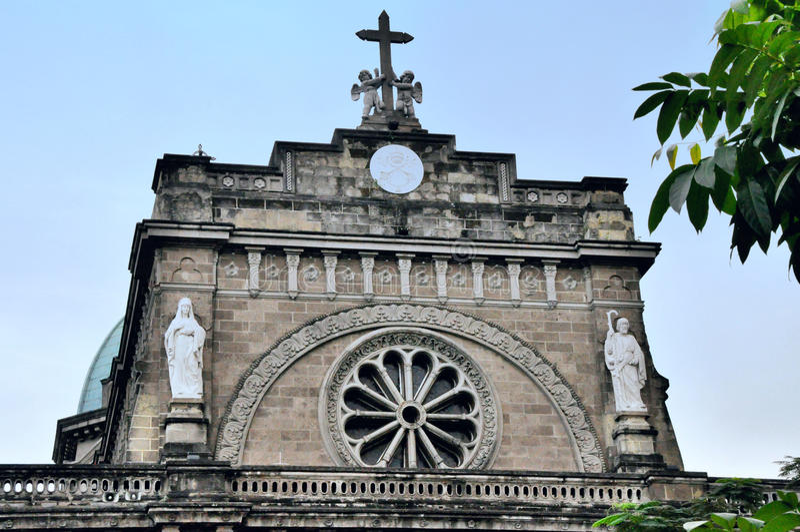 Catedral de Manila fotos de stock royalty free