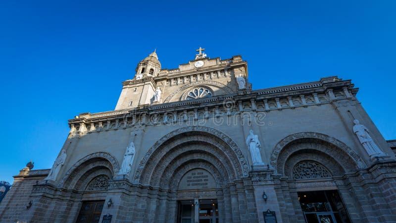 Catedral de Manila na área intra muros fotografia de stock royalty free