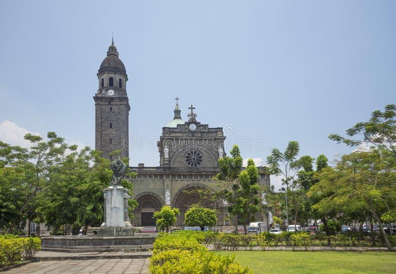 Catedral de Manila nos philippnes imagens de stock