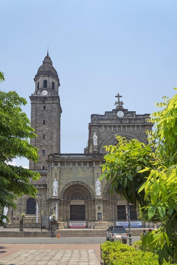 Catedral de Manila nos philippnes foto de stock royalty free
