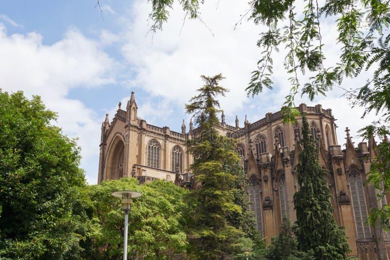 Catedral de Maria Inmaculada em Vitoria-Gasteiz, Espanha fotografia de stock