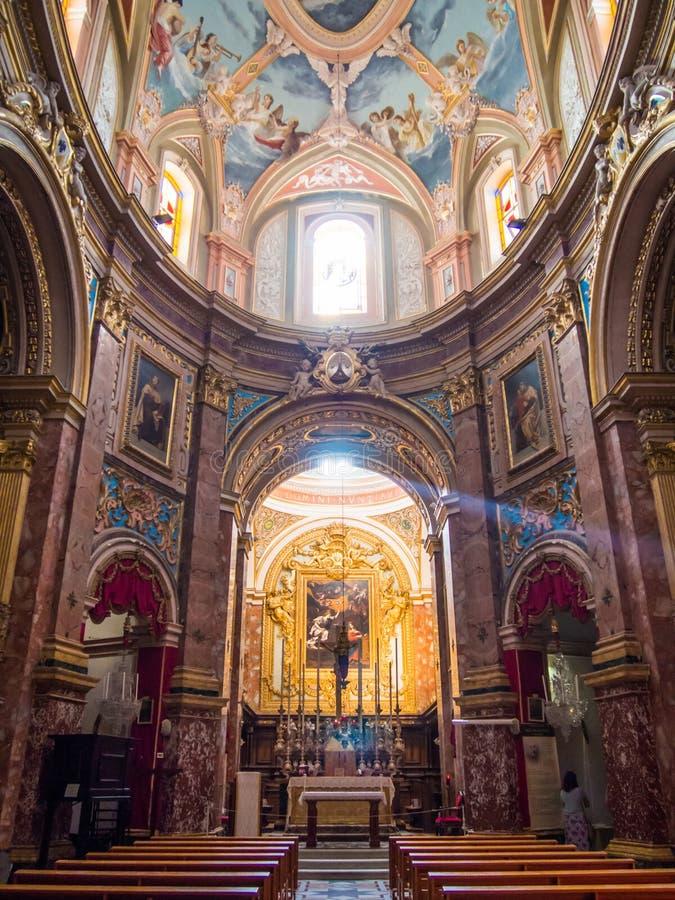 Catedral de Mdina, Malta foto de stock