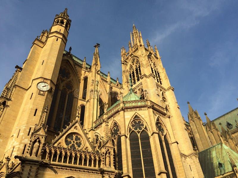 Catedral de Metz imagens de stock royalty free