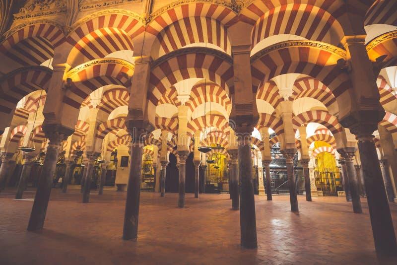 Catedral de Mezquita do La em Córdova, Espanha A catedral foi construída foto de stock royalty free