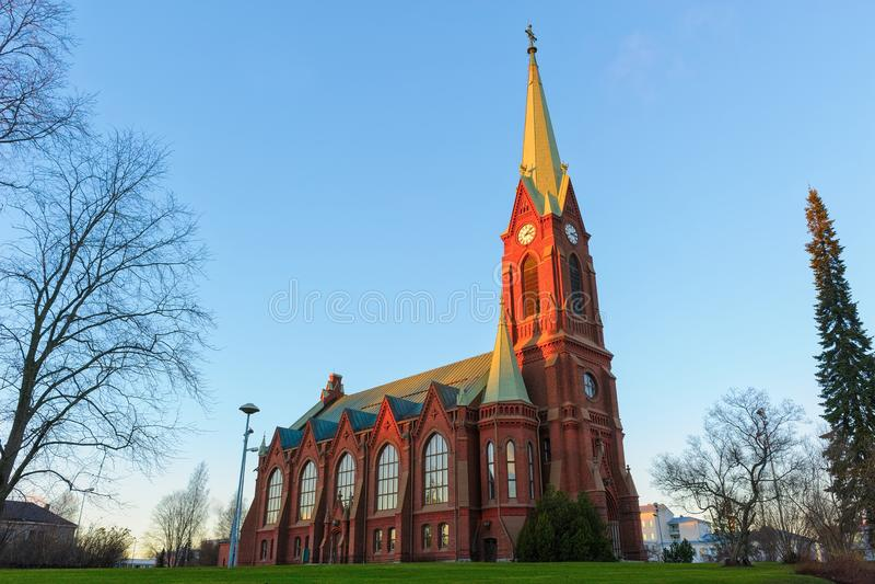 Catedral de Mikkeli foto de archivo libre de regalías