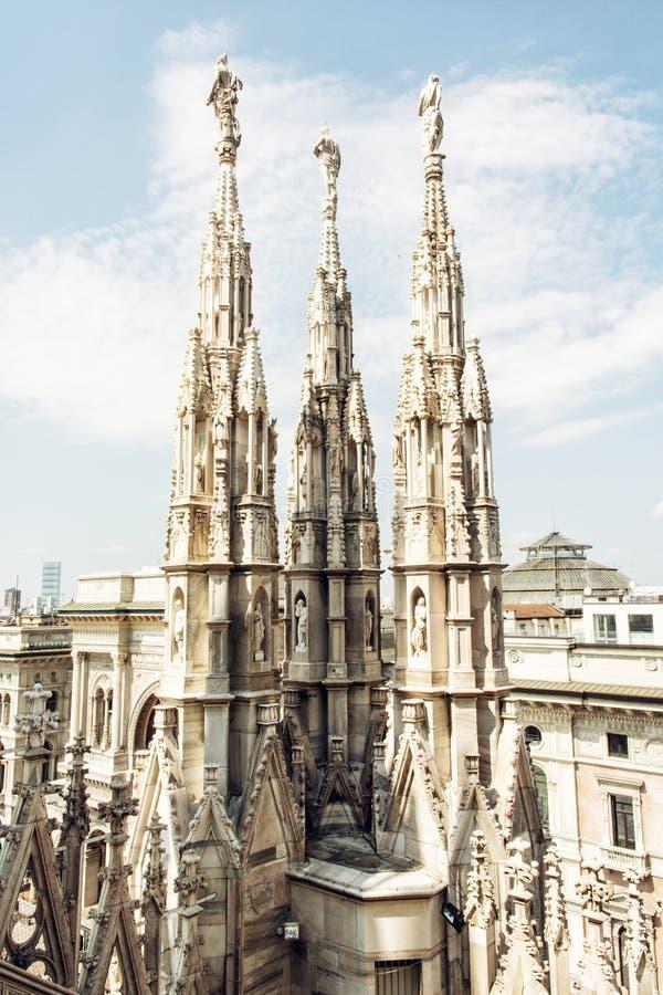 Catedral de Milán (di Milano del Duomo) en Italia foto de archivo