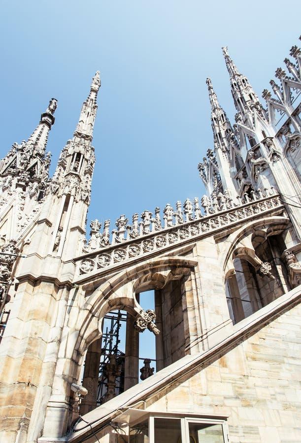 Catedral de Milán (di Milano), Italia, patrimonio cultural del Duomo imagenes de archivo