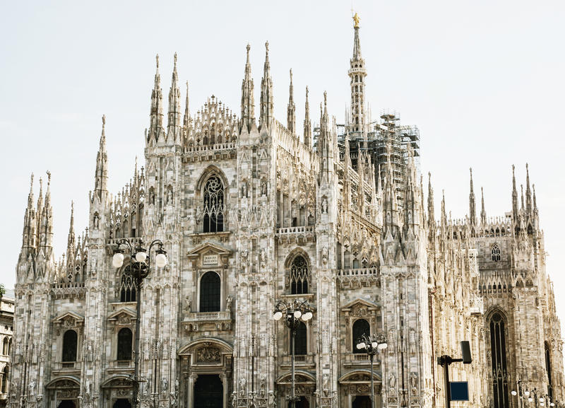 Catedral de Milán - di Milano, Milán, Italia del Duomo fotos de archivo