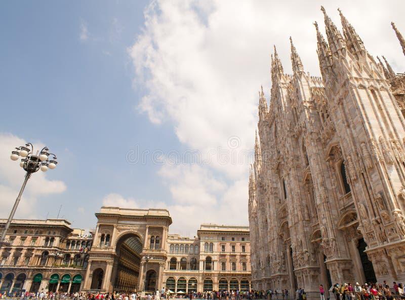 Catedral de Milão fotografia de stock