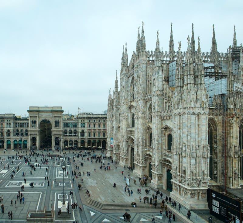 A catedral de Milão chamou di Milão do domo imagens de stock royalty free