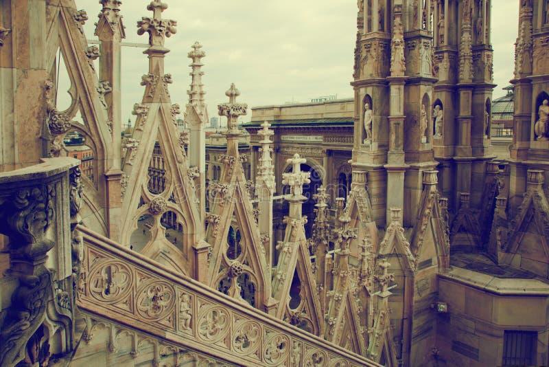 Catedral de Milano, configuración. Italia foto de archivo libre de regalías