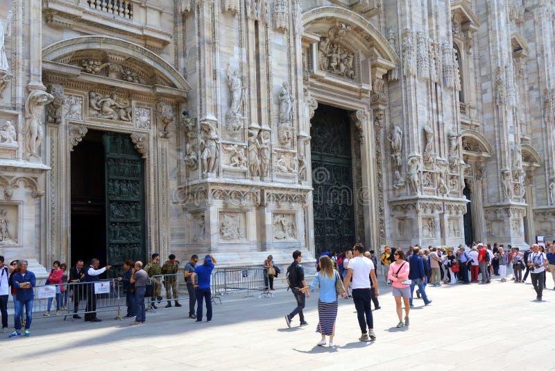 Catedral de Milano, Italia imagen de archivo