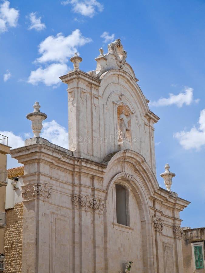 Catedral de Molfetta. Apulia. foto de archivo