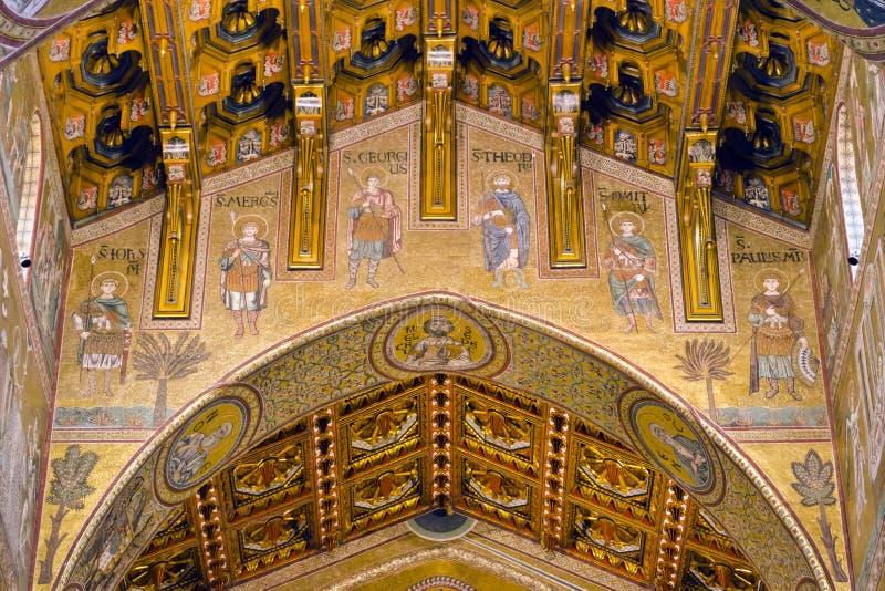 A catedral de Monreale fotografia de stock