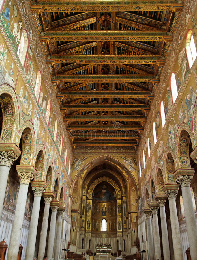 Catedral de Monreale imagem de stock