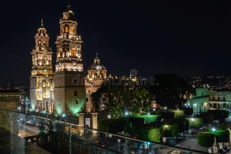 Catedral de Morelia imagem de stock royalty free